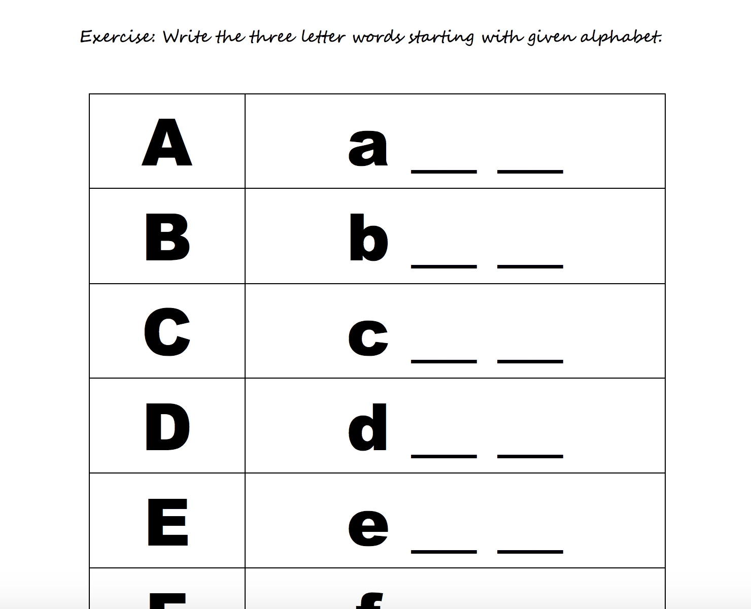 Alphabet Worksheets Free Download