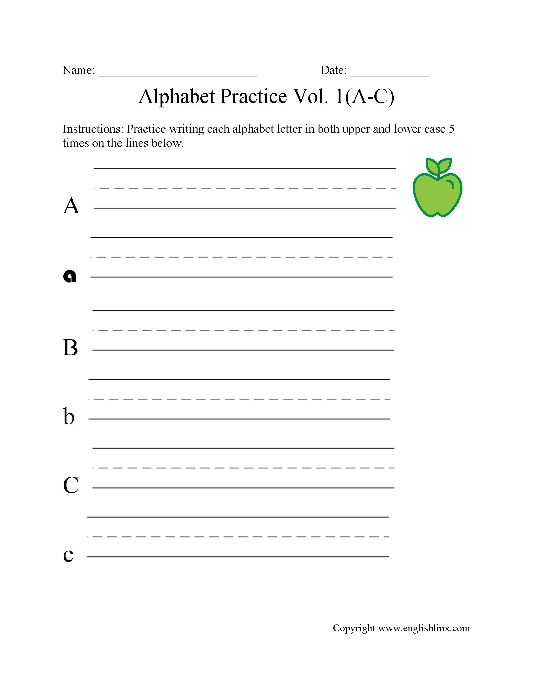 Alphabet Beginners Worksheets