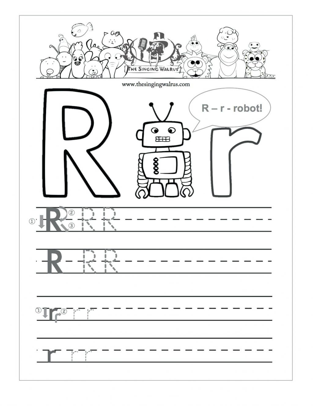 Letter R Worksheets