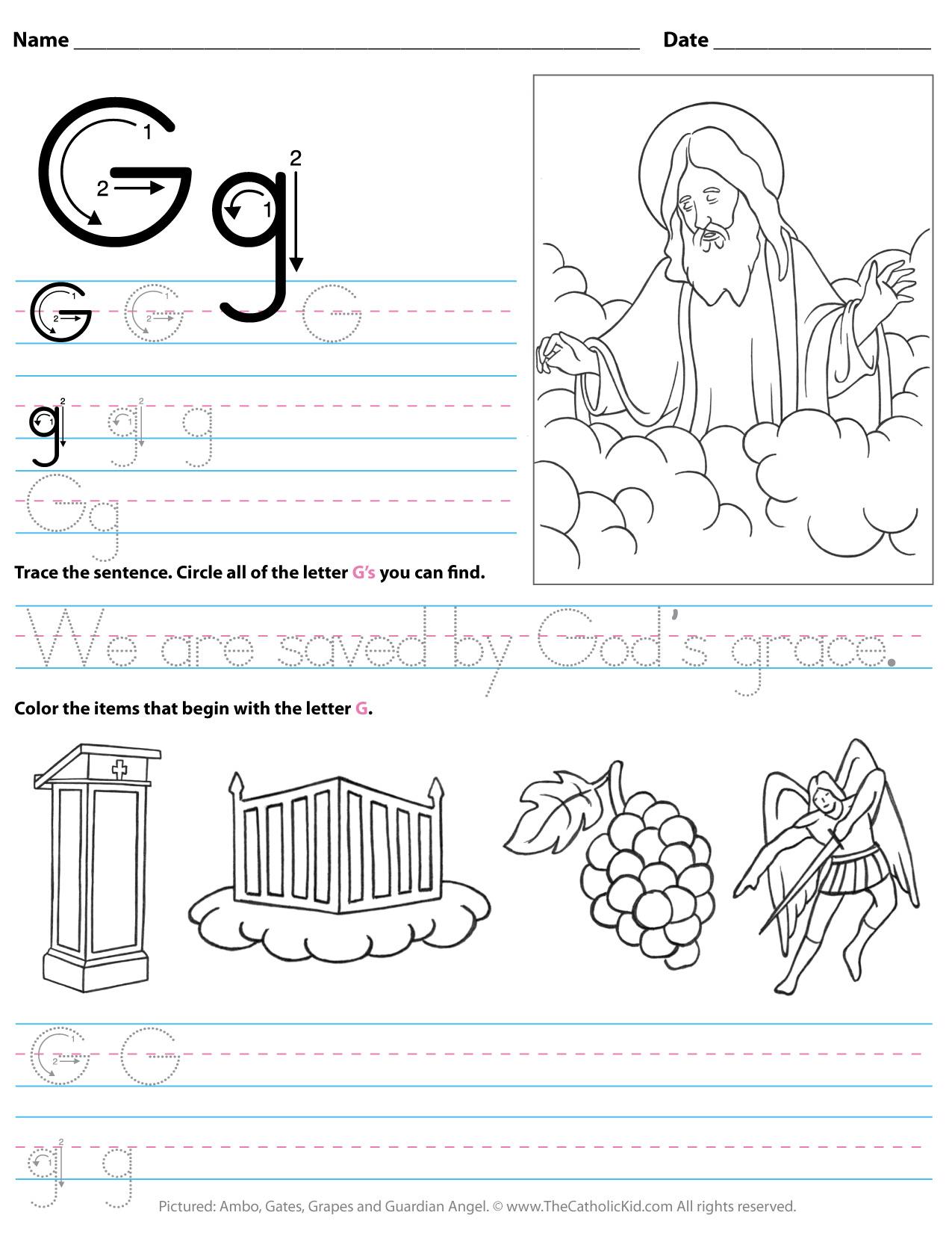 Letter G Worksheets For Kinder