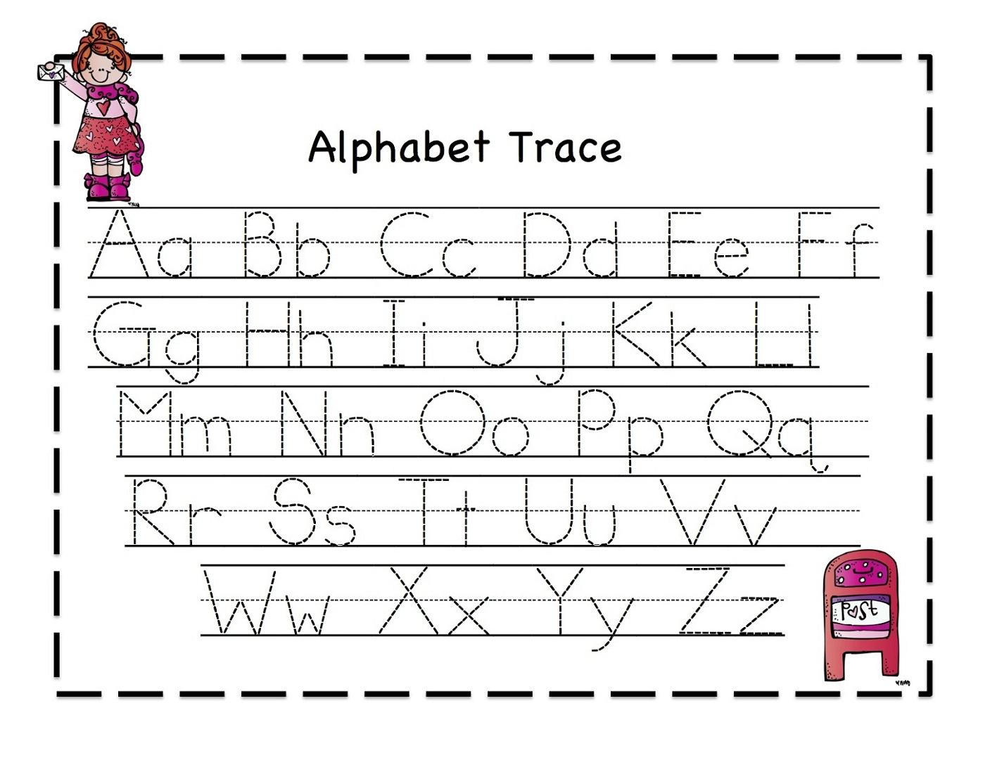 Alphabet Worksheets Traceable
