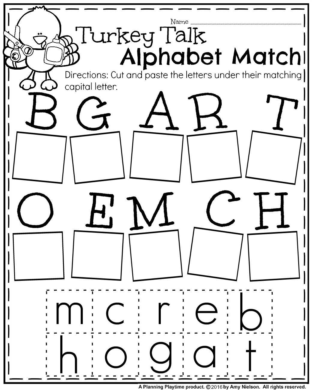 Letter Matching Worksheets Cut And Paste