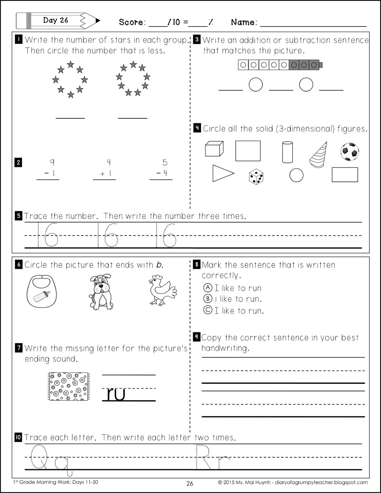 Alphabet Copy Worksheets