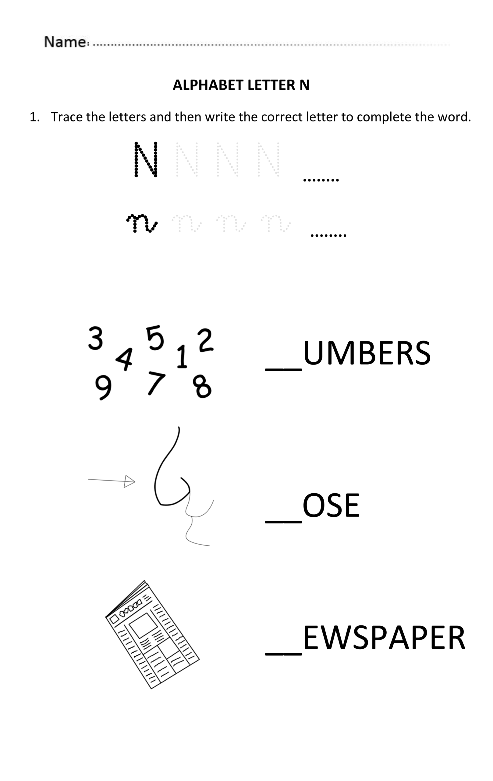 5 Year Old Alphabet Worksheets