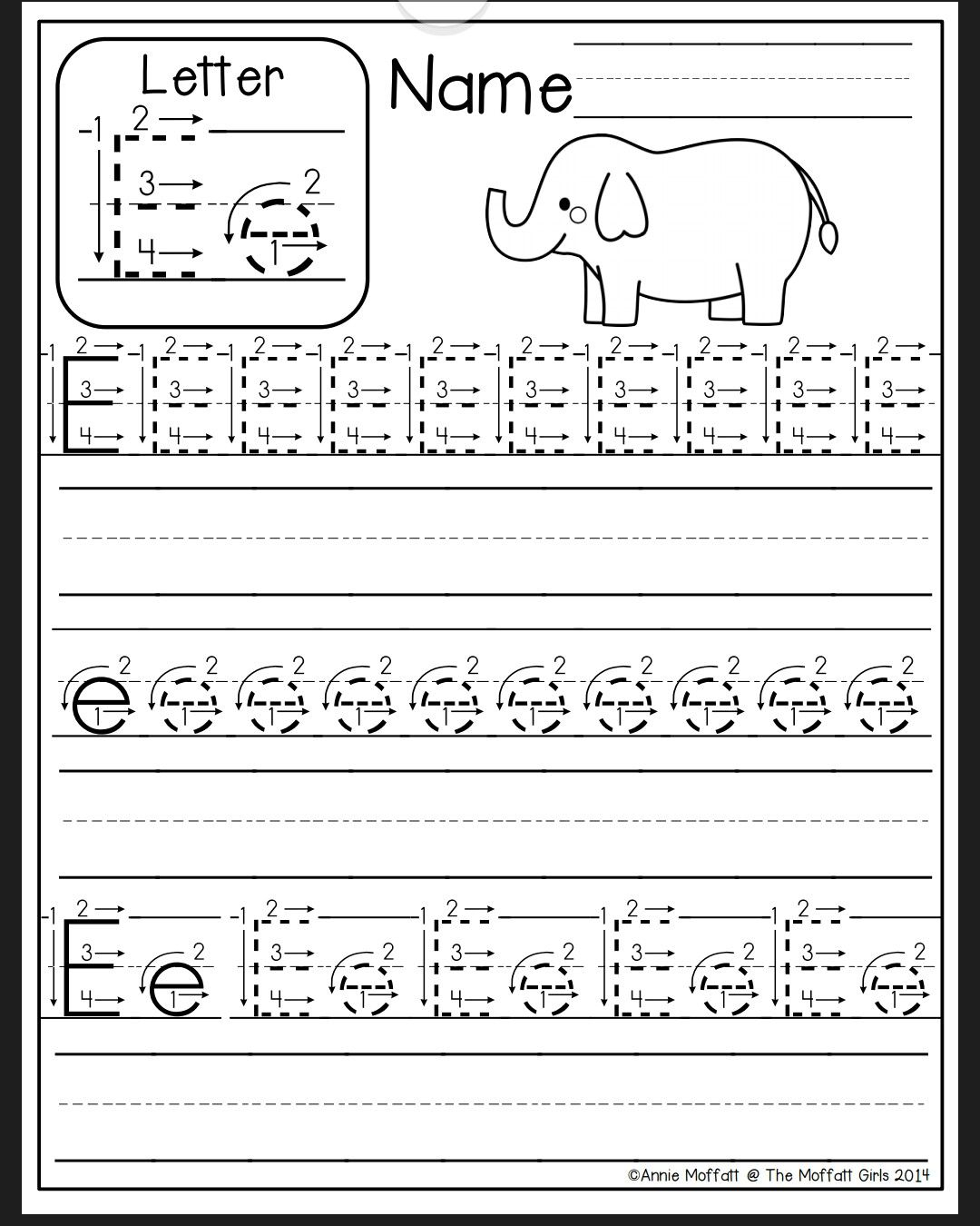 Alphabet Homework Worksheets