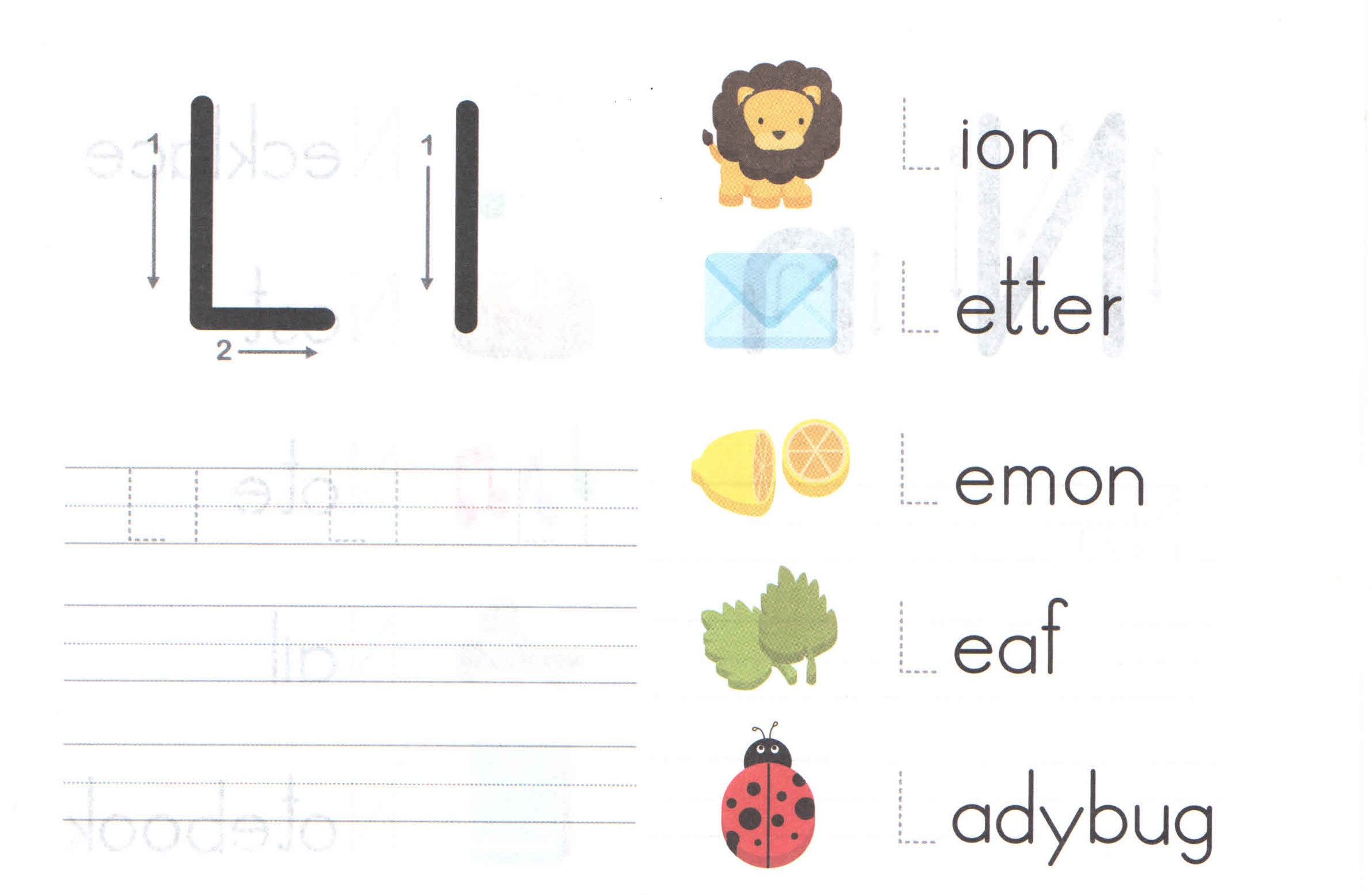 Letter L Worksheets For Toddlers