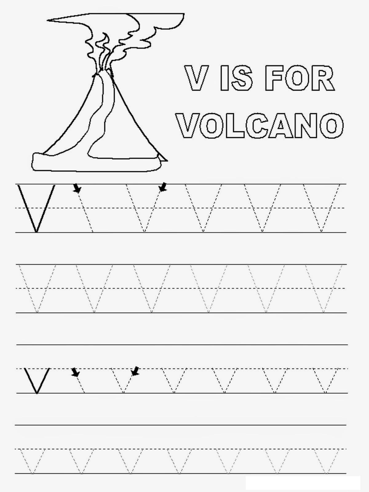Letter V Worksheets Printable