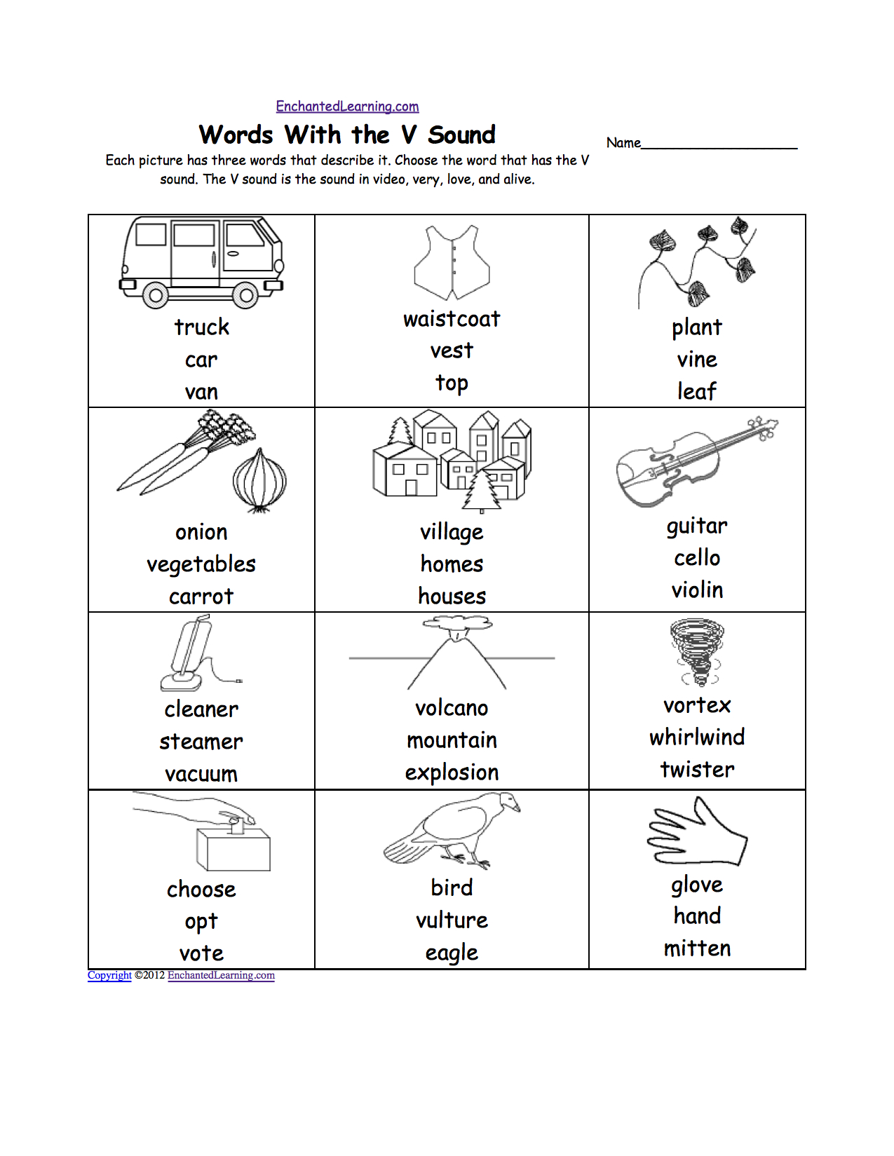 Letter V Worksheets Printable