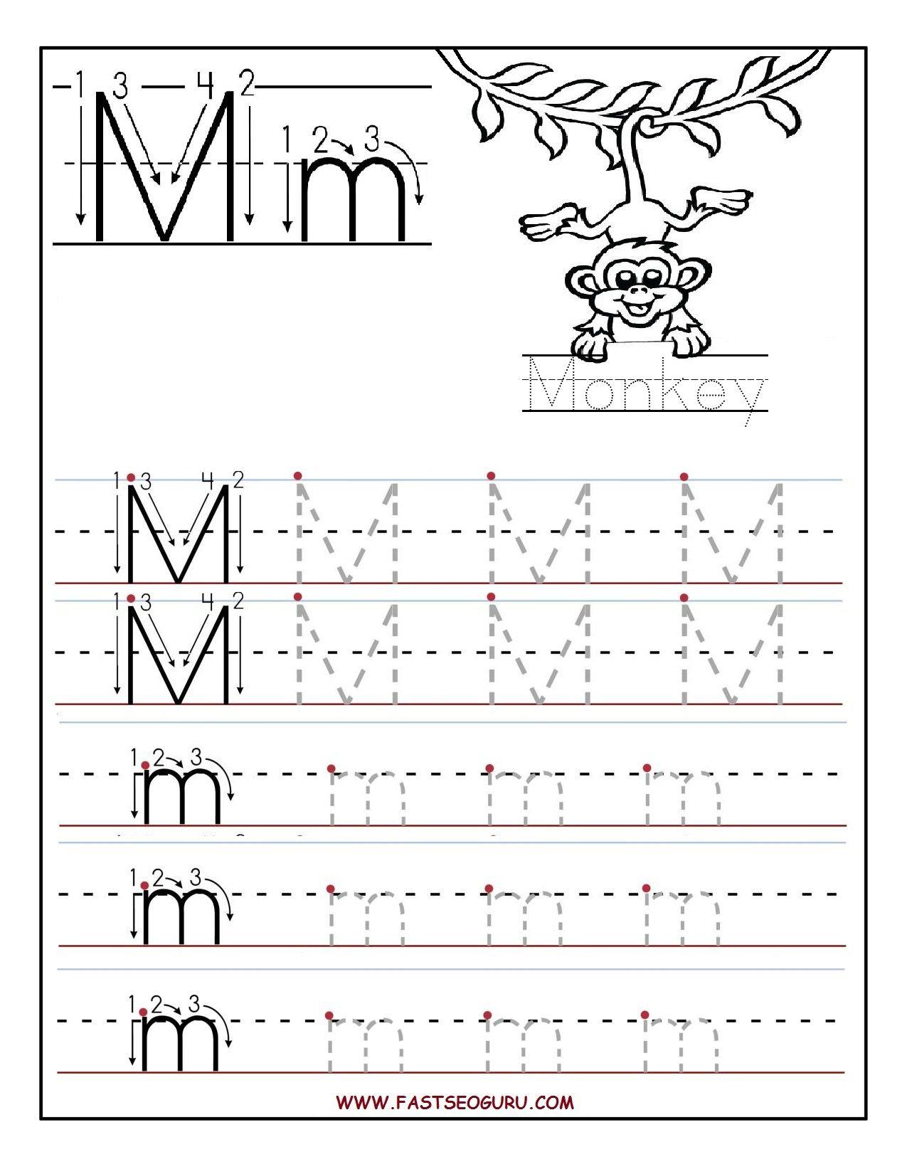 Letter M Worksheets For Kinder