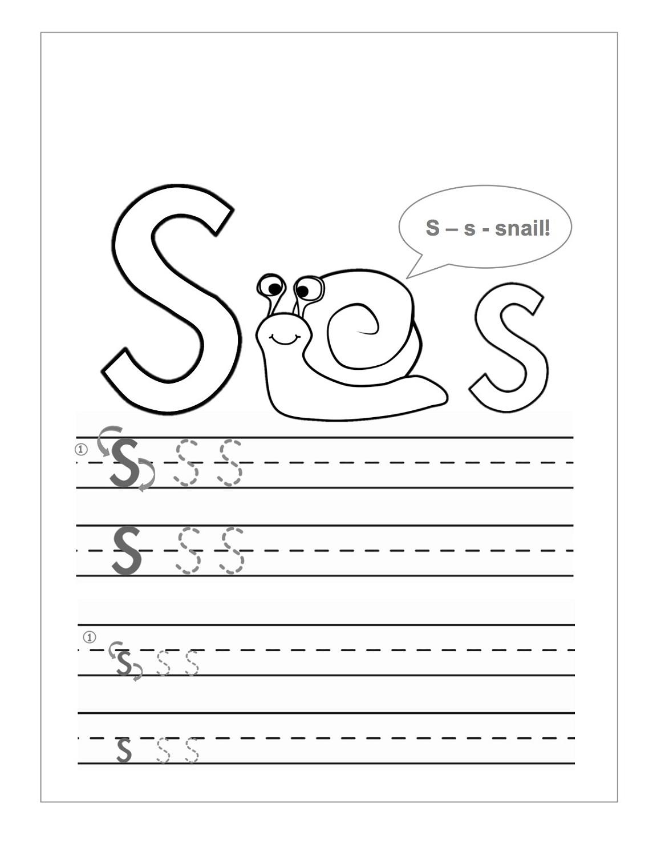 S Letter Worksheets