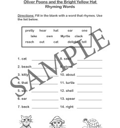 Train Rhyming Worksheets   Printable Worksheets and Activities for  Teachers [ 2200 x 1700 Pixel ]