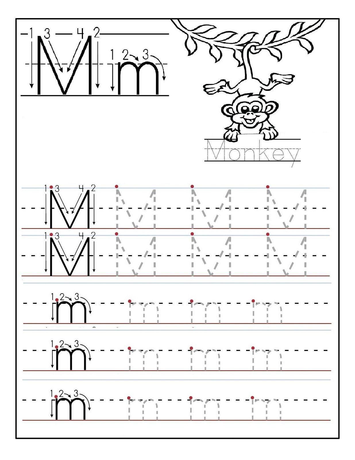 Letter N Tracing Worksheets Preschool