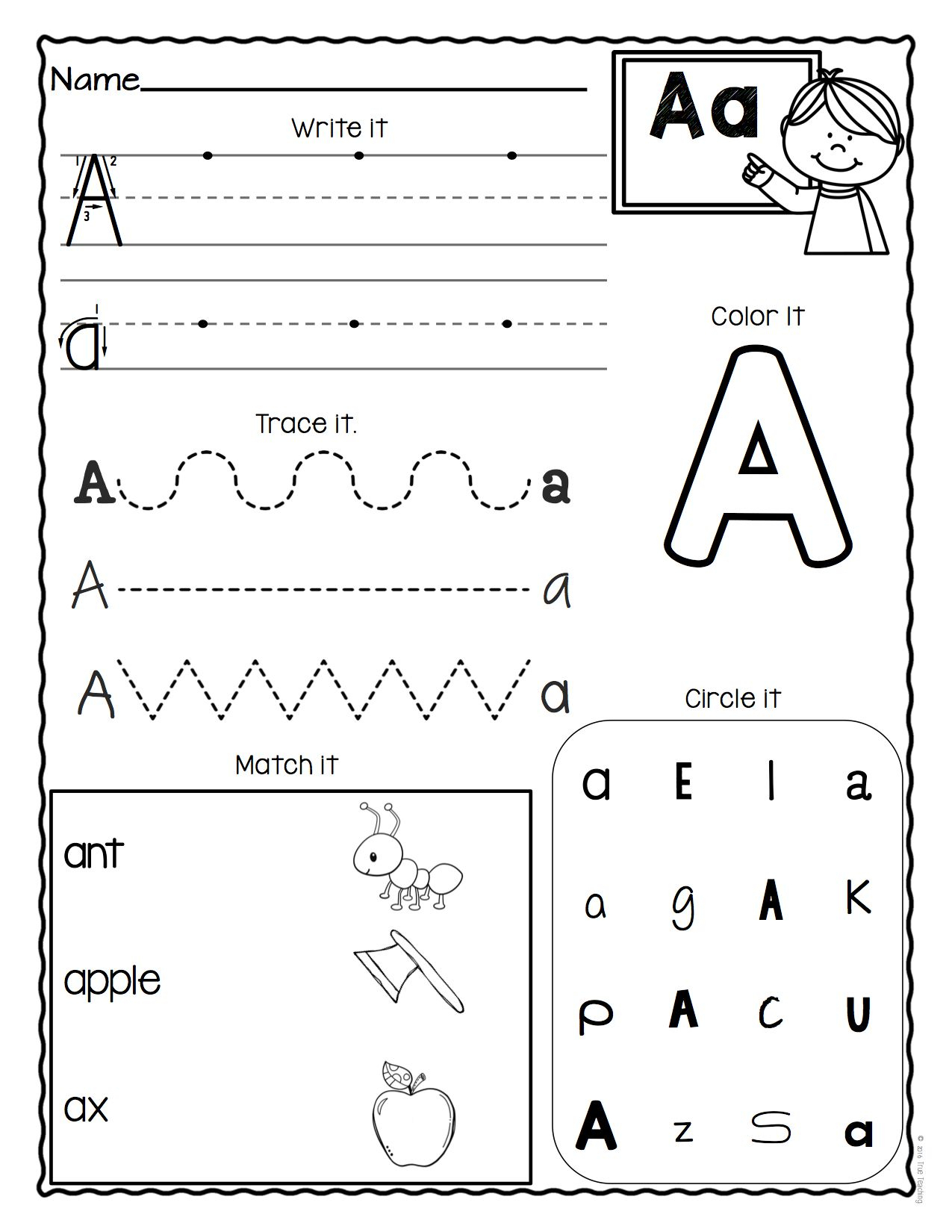 Pre K Alphabet Recognition Worksheets