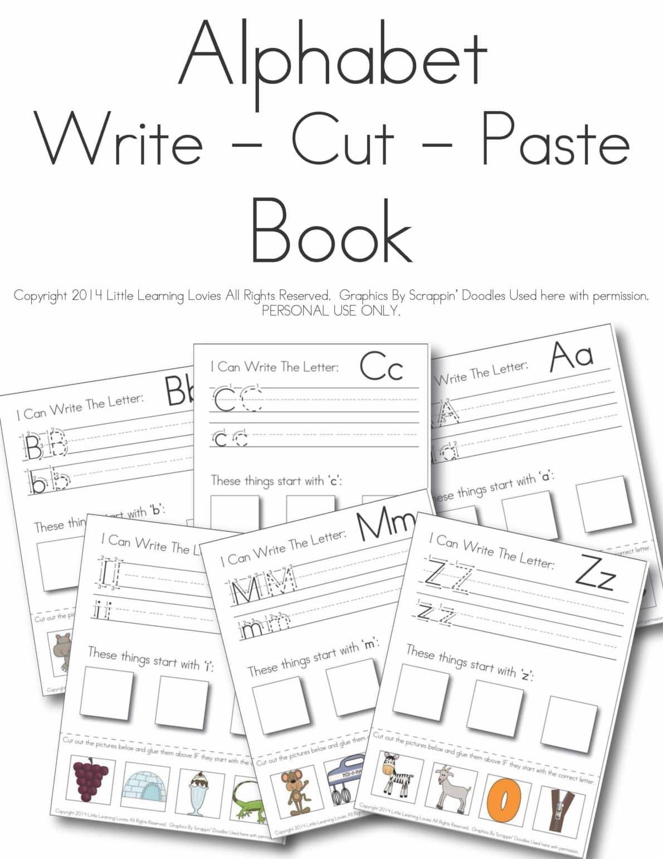 Alphabet Cutting Worksheets