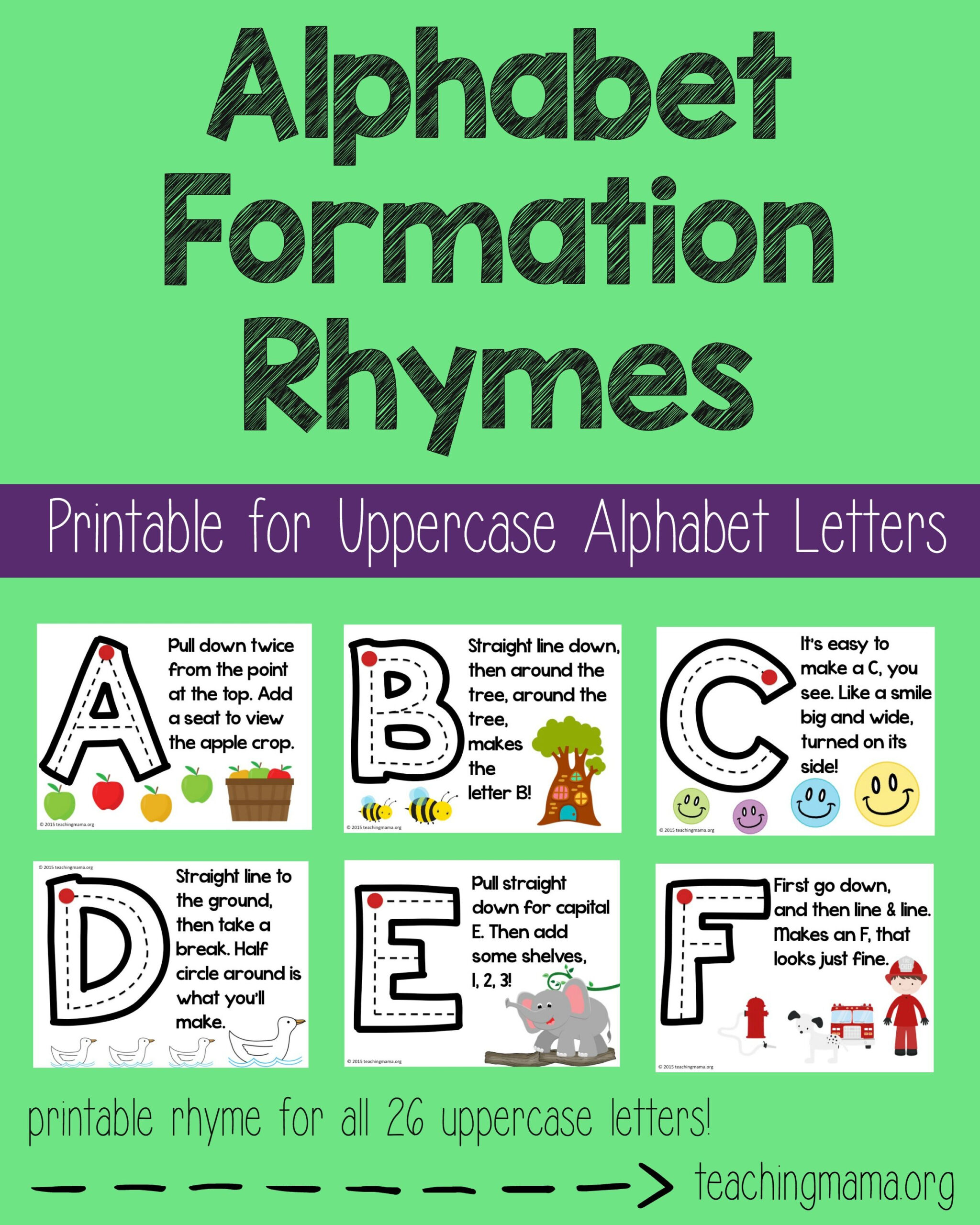 Alphabet Tracing Rhymes