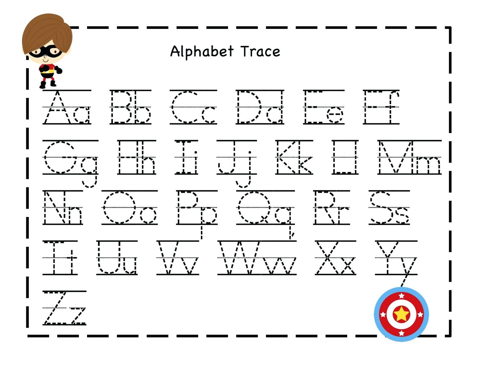 Alphabet Tracing Worksheets For 3 Year Olds