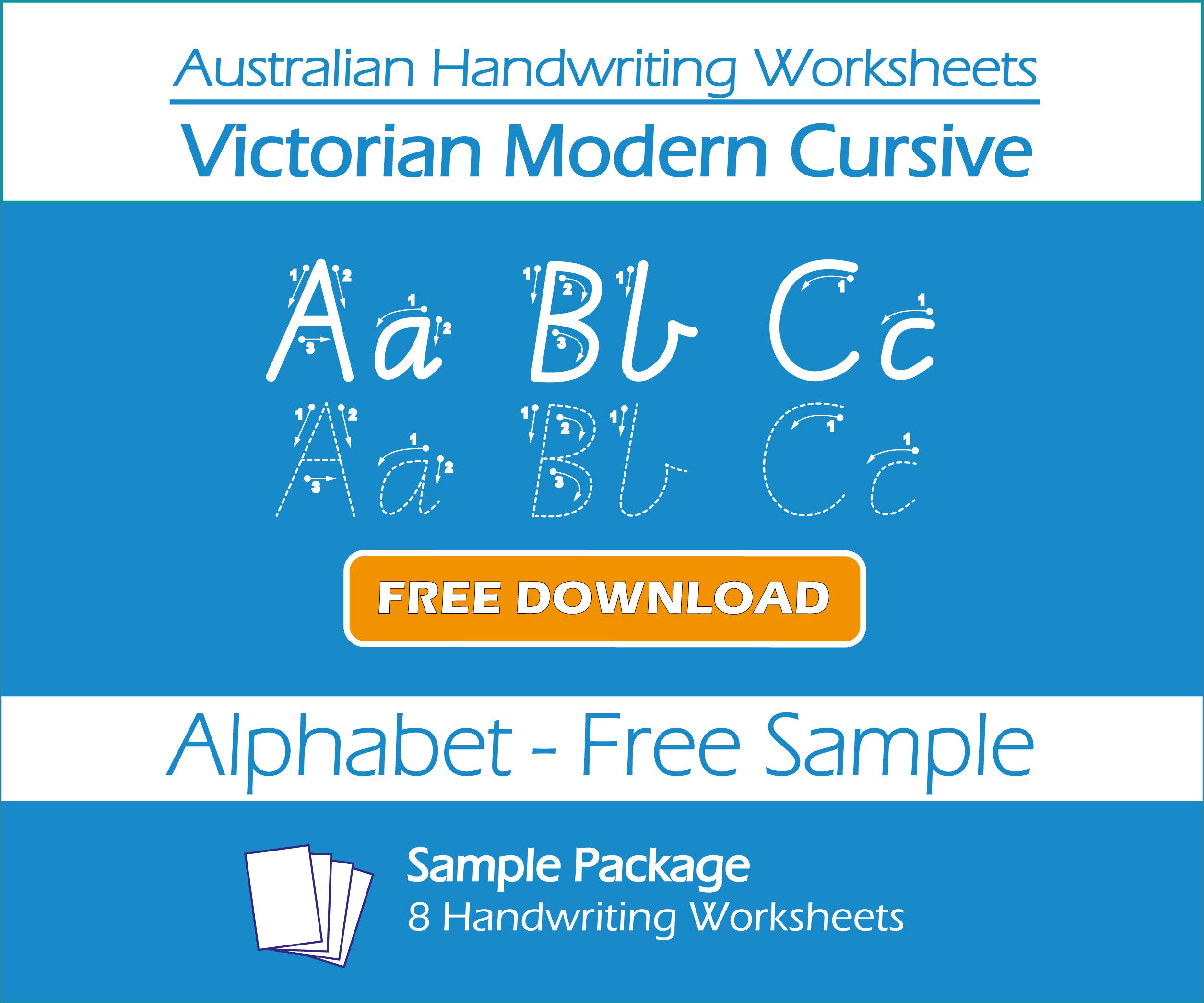 Alphabet Tracing Victorian Cursive