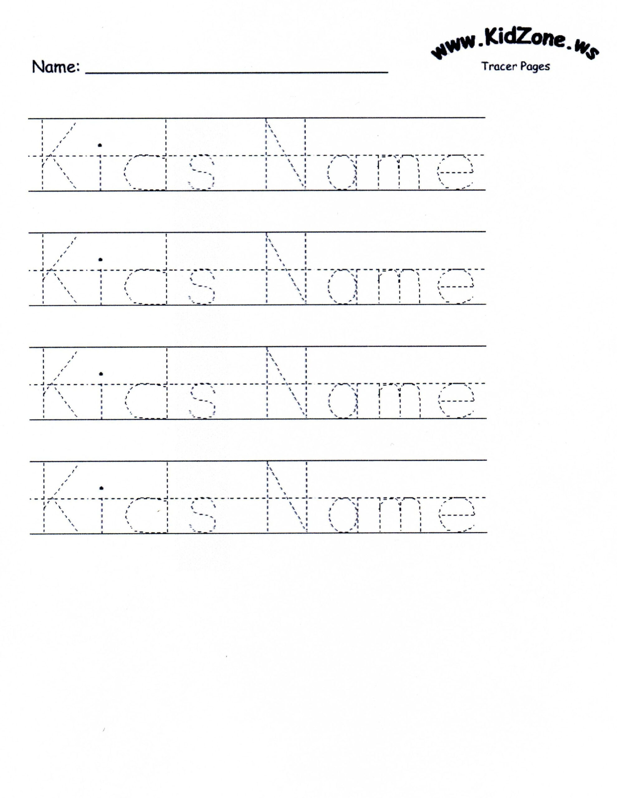 Name Tracing Dotted Lines