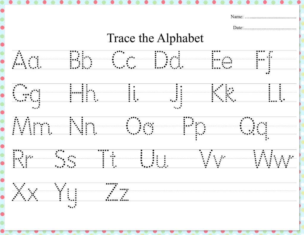 Alphabet Tracing Dots