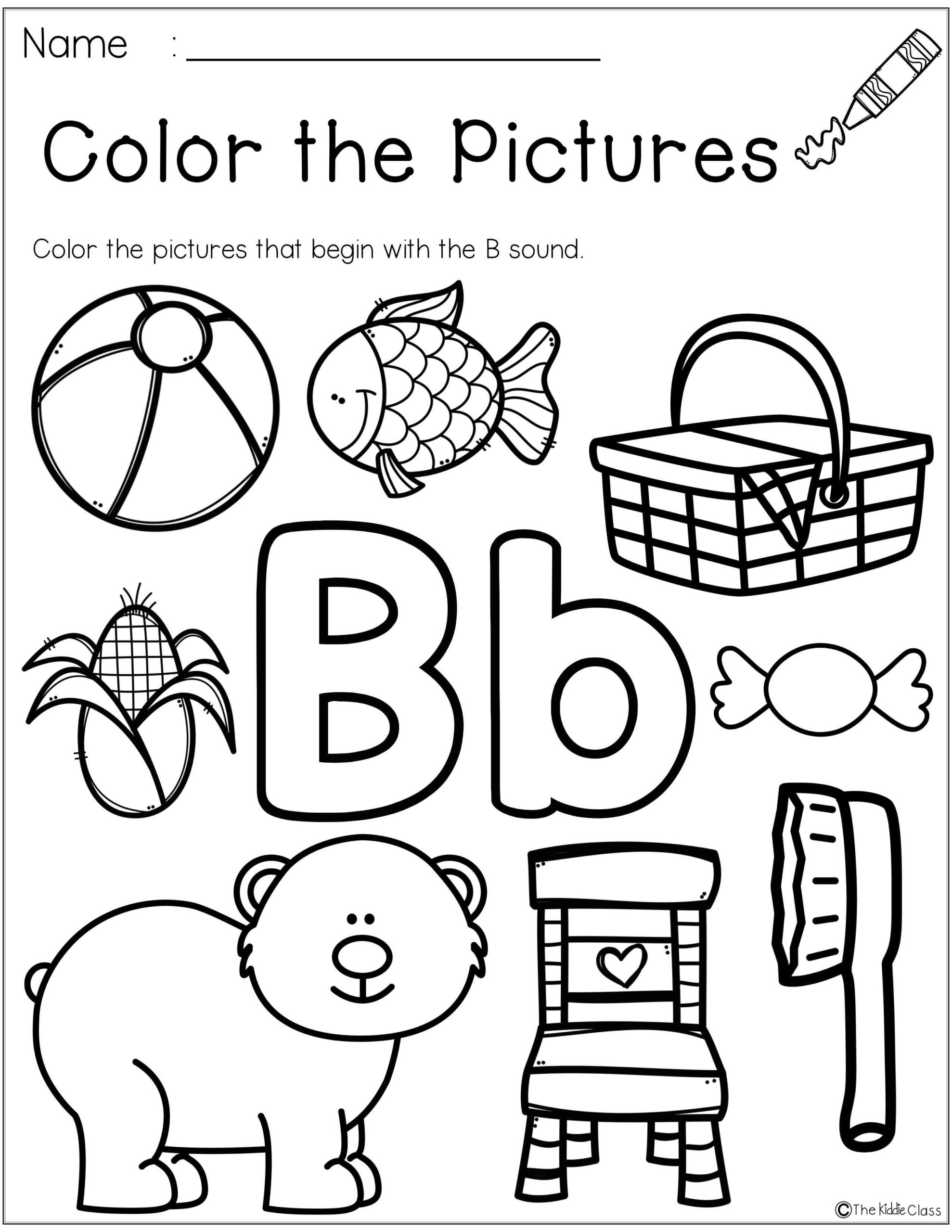 Letter B Worksheets Cut And Paste