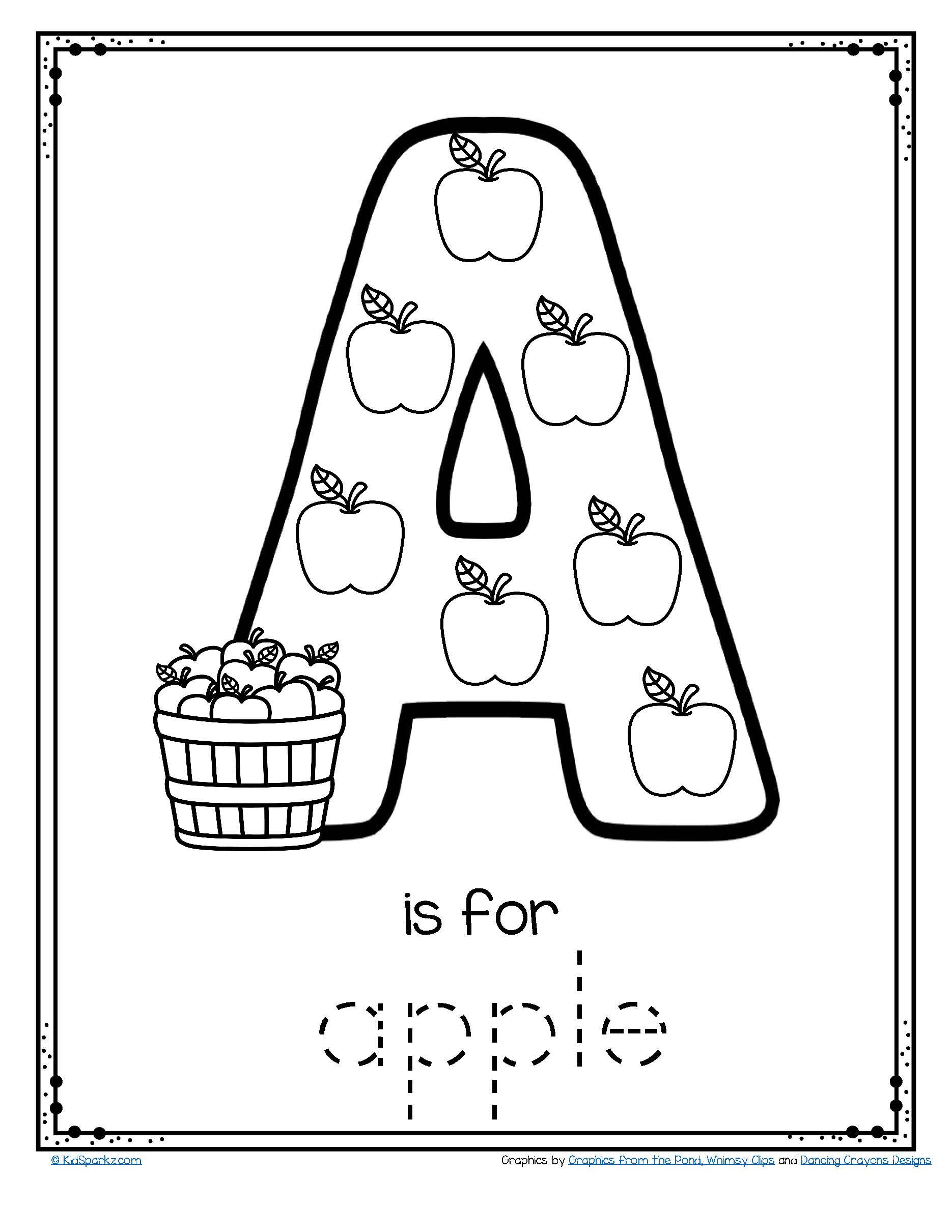 Alphabet Tracing Coloring Worksheets