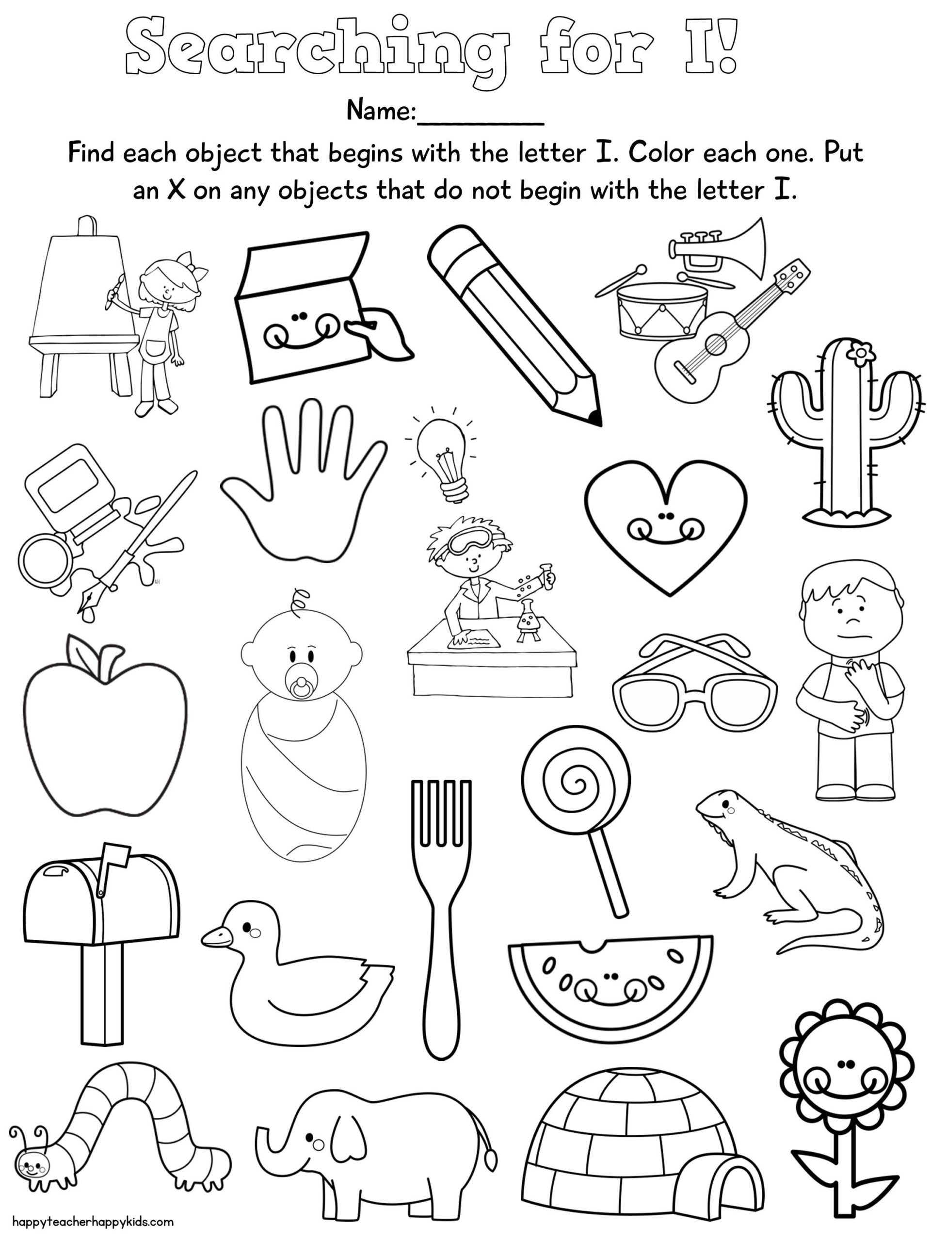 Letter F Worksheets Cut And Paste