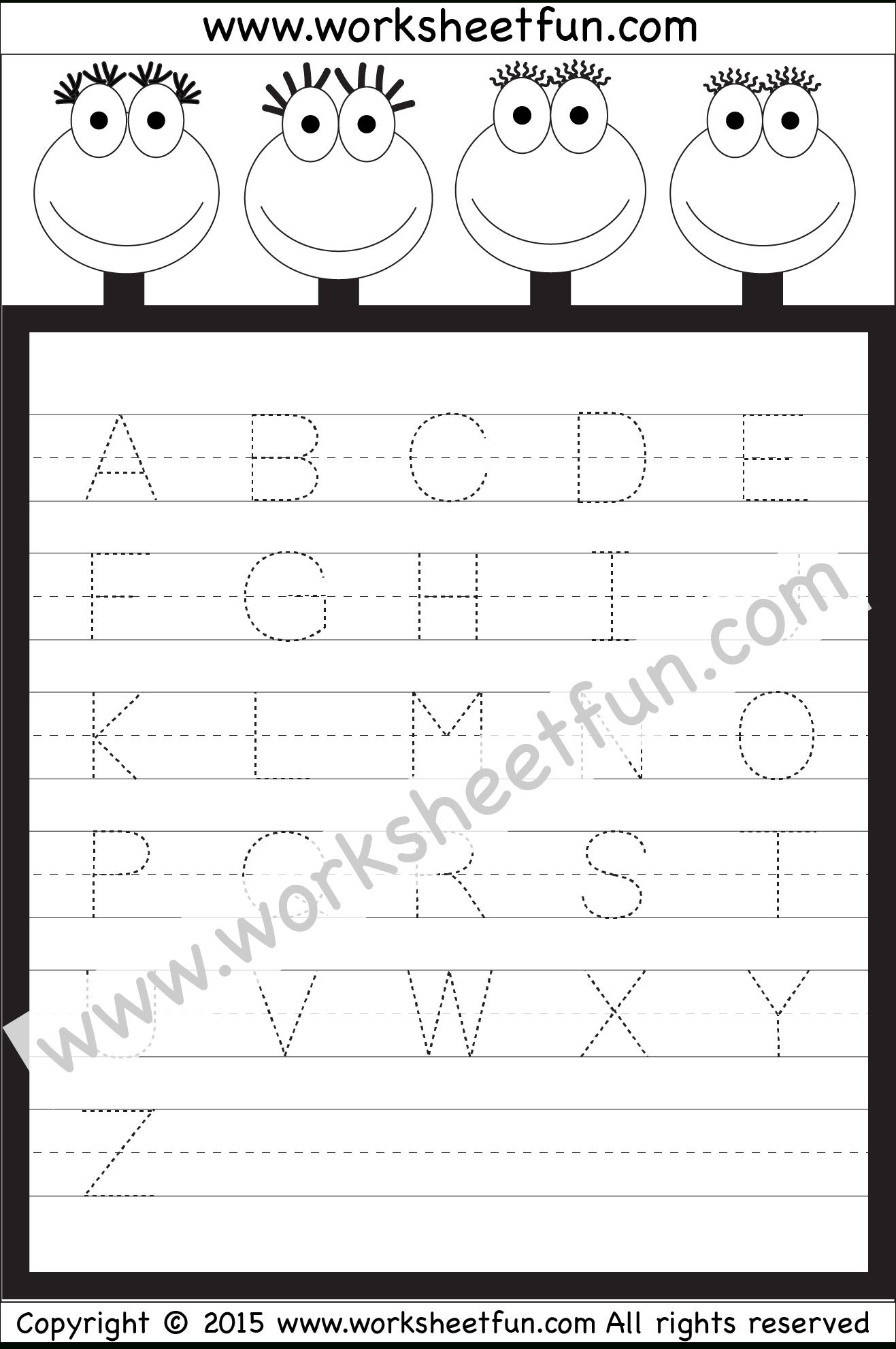 Alphabet Worksheets For Nursery