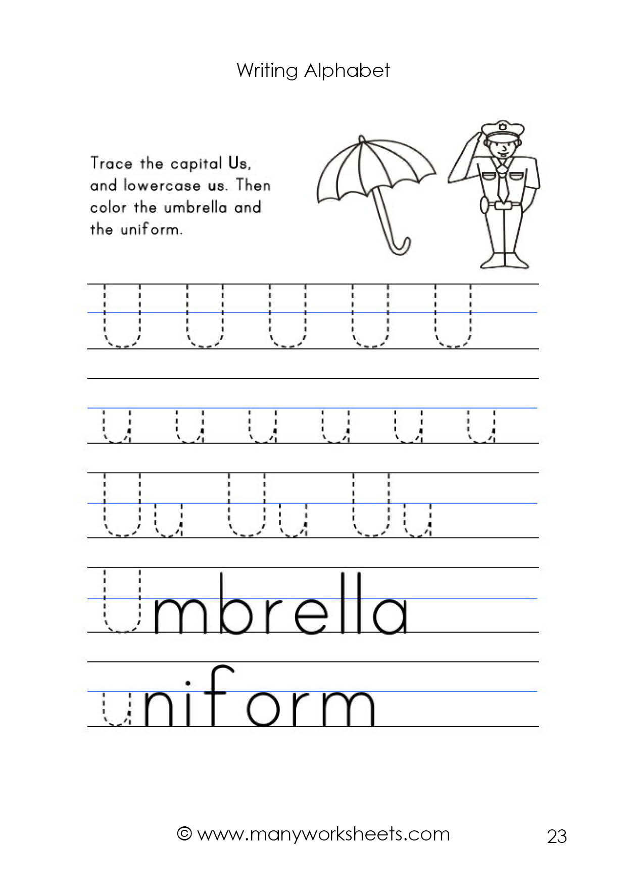 Upper And Lowercase Alphabet Tracing