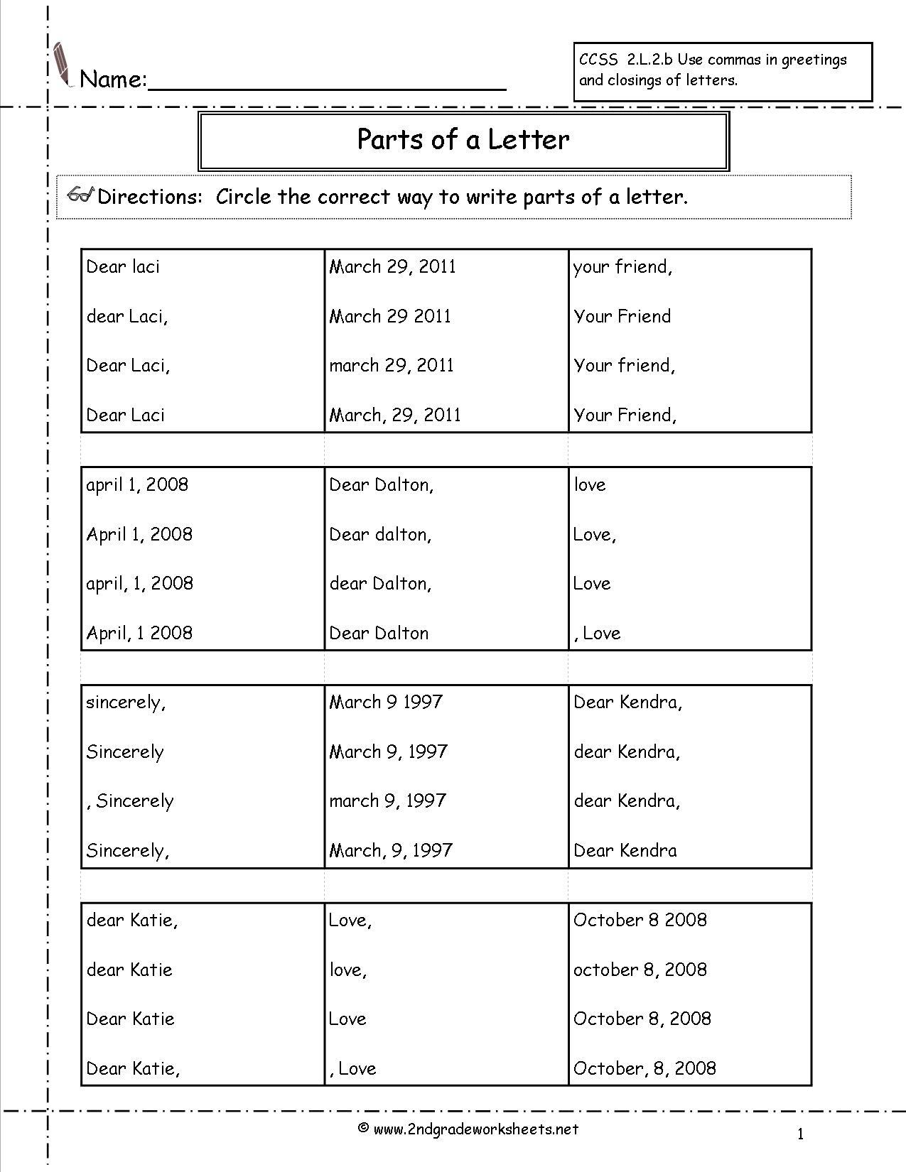 Grade 2 Alphabet Worksheets