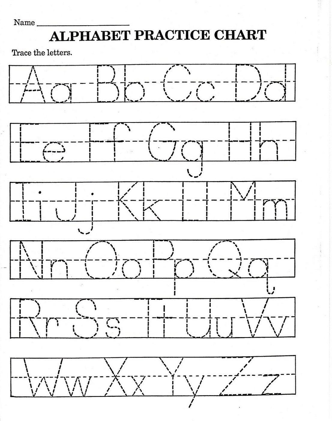 Pre K Alphabet Tracing Worksheets