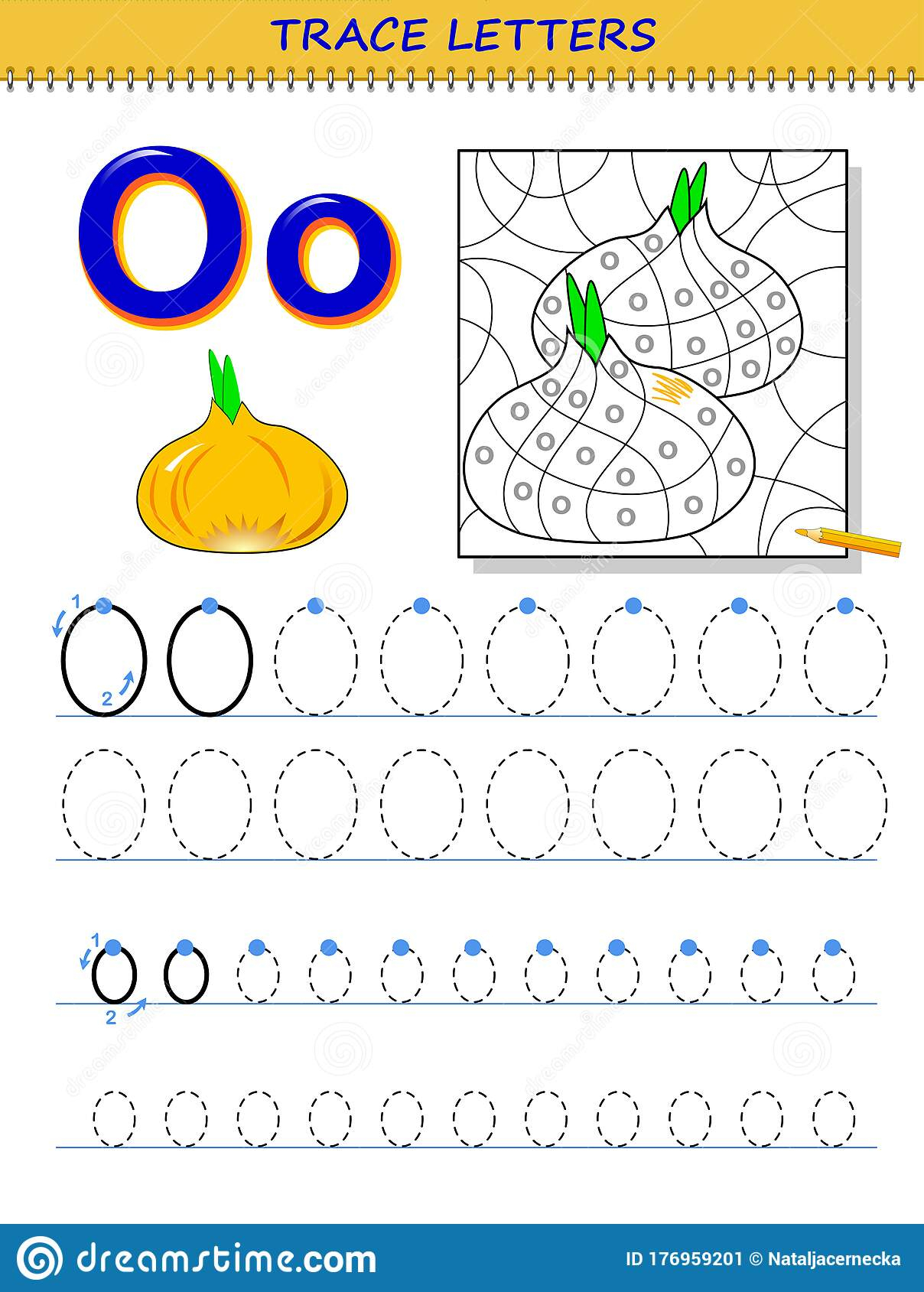Letter O Tracing Page