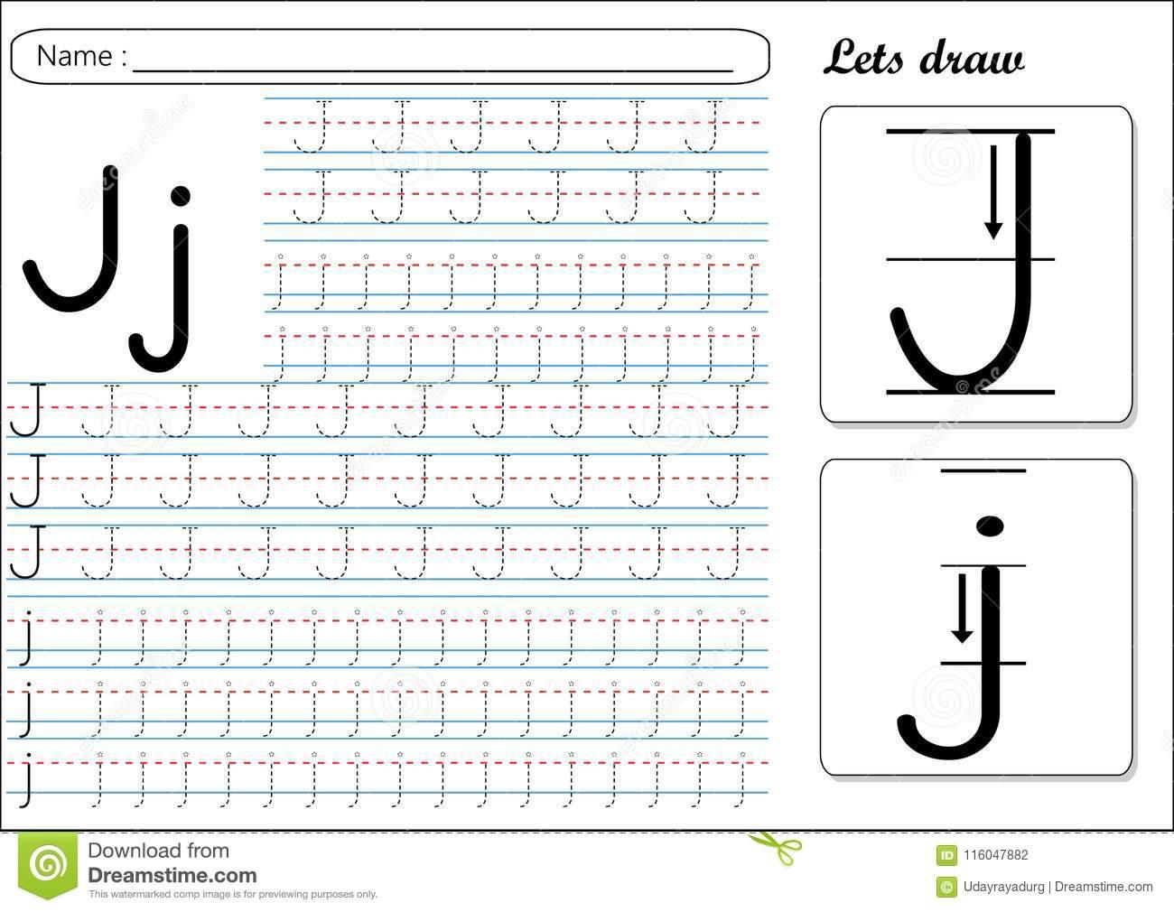 Tracing Letter J Preschool