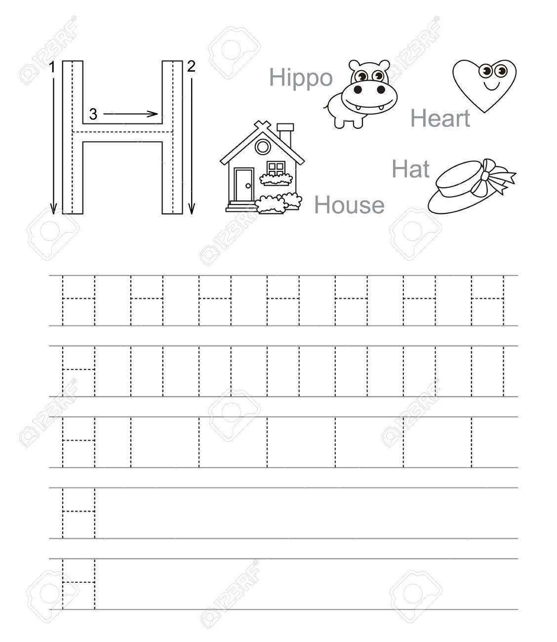 Letter H Tracing Worksheets