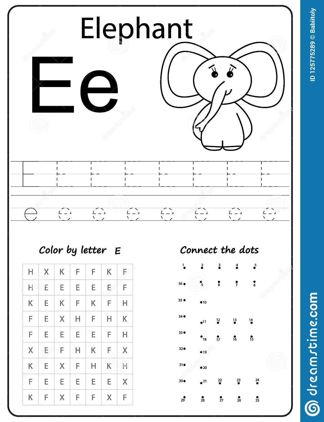 Letter E Worksheets Free Printables