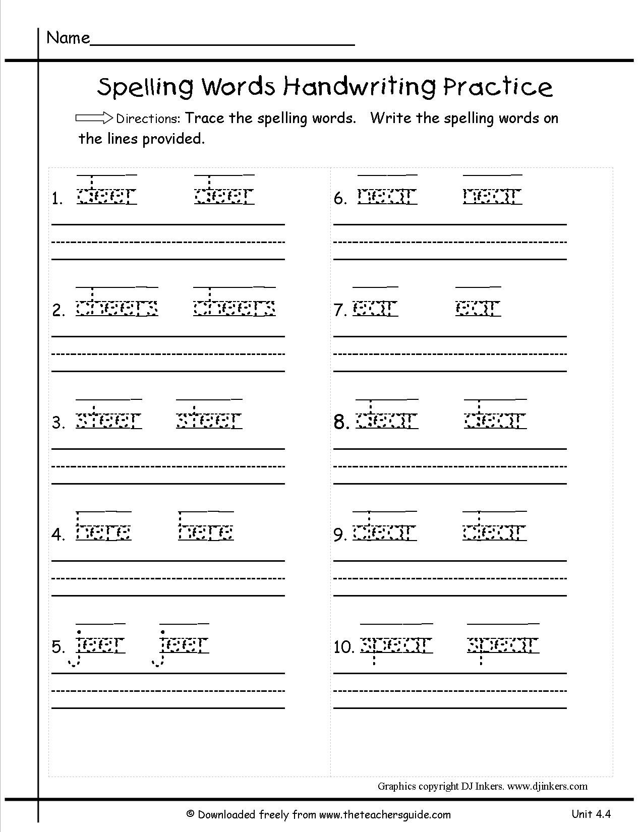 Tracing Sentences Worksheets