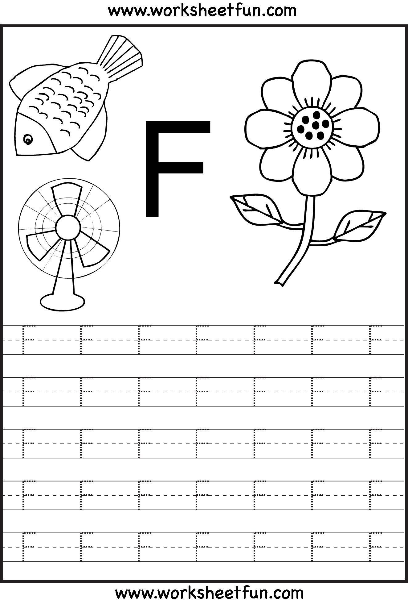 Letter F Worksheets Free Printable