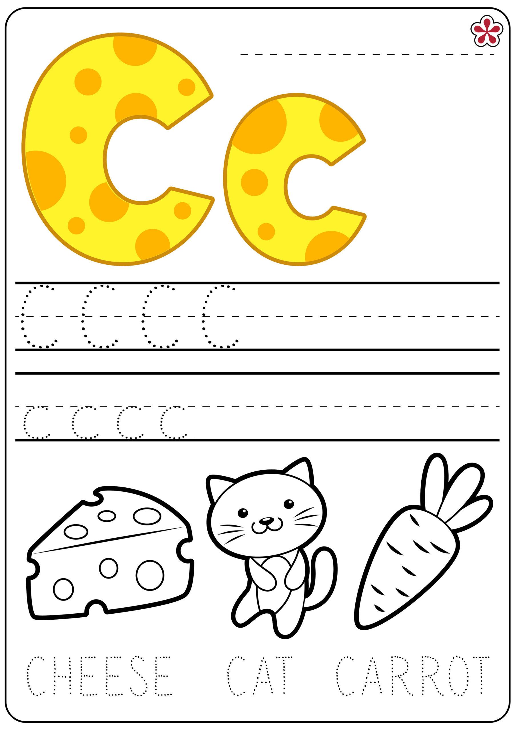 Letter C Worksheets Tracing
