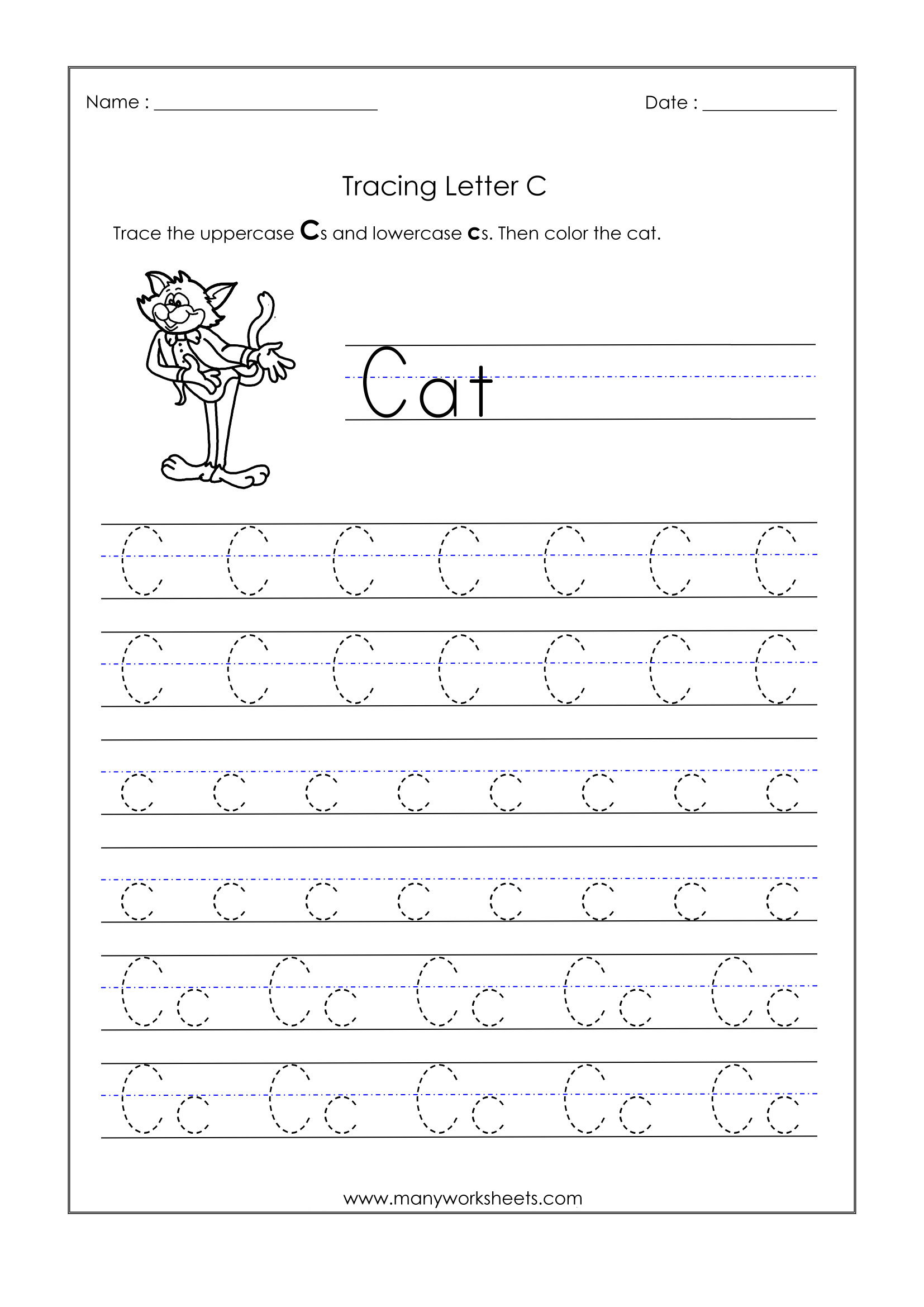 Dotted Alphabet Tracing Worksheets