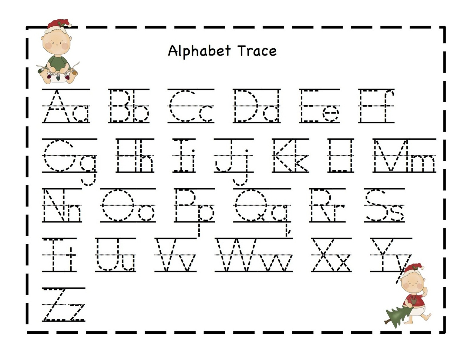 Free Pre K Letter Tracing Worksheets