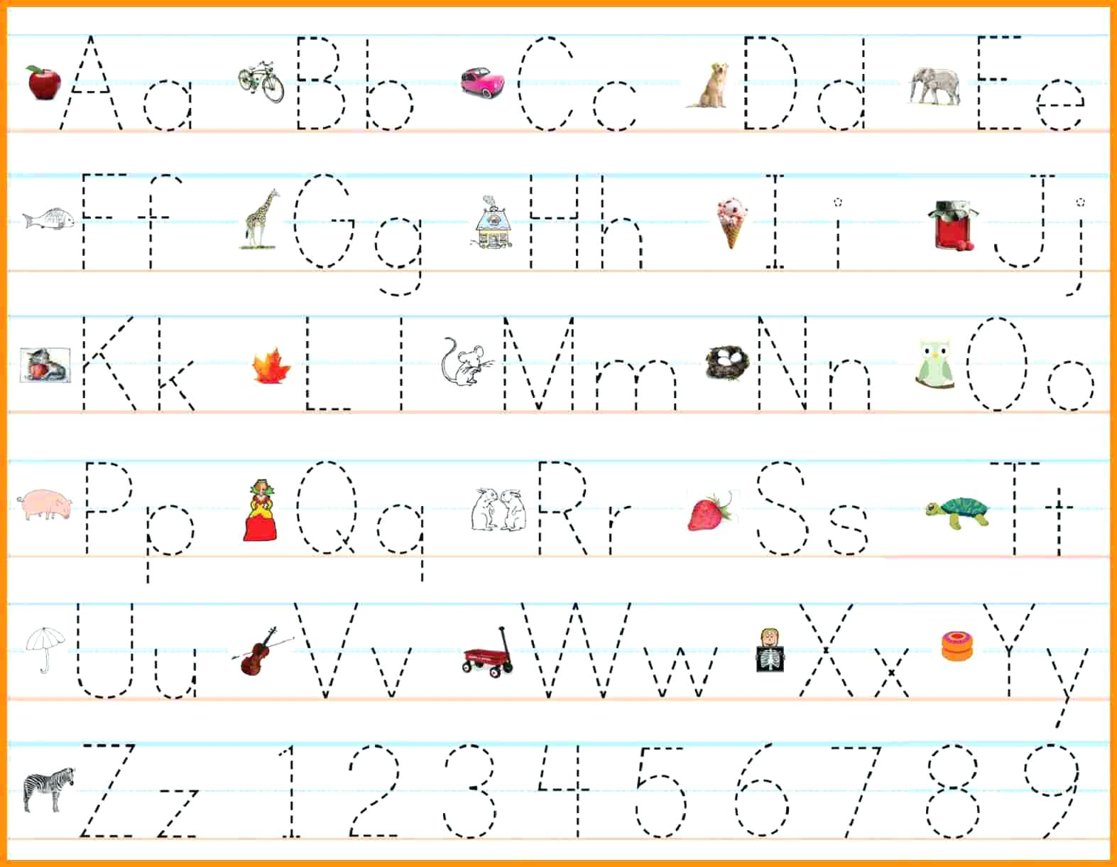 Alphabet Tracing Practice Worksheets