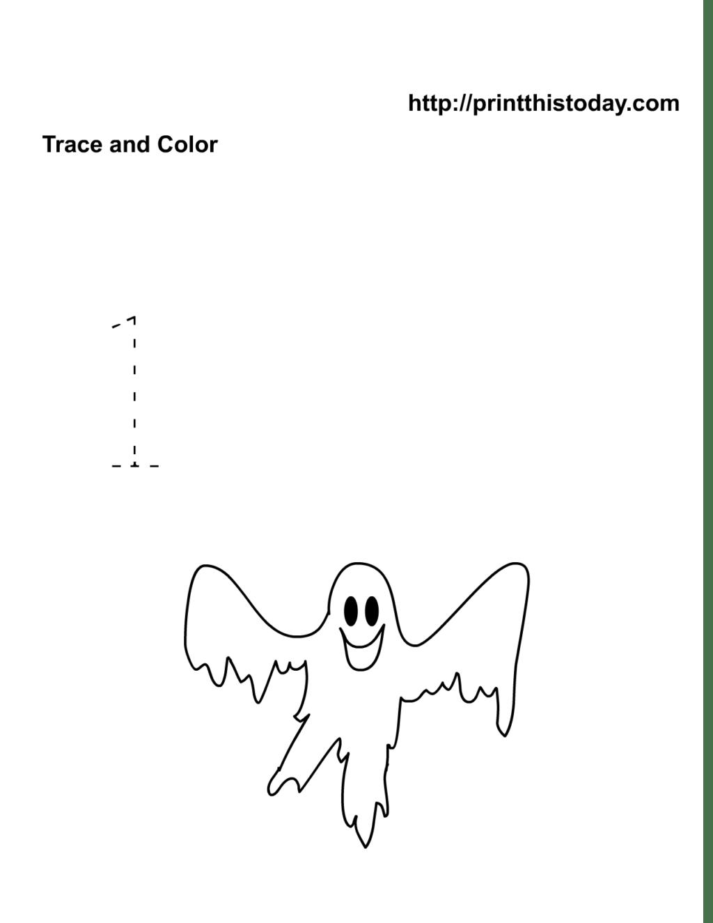 Halloween Number Tracing Worksheets
