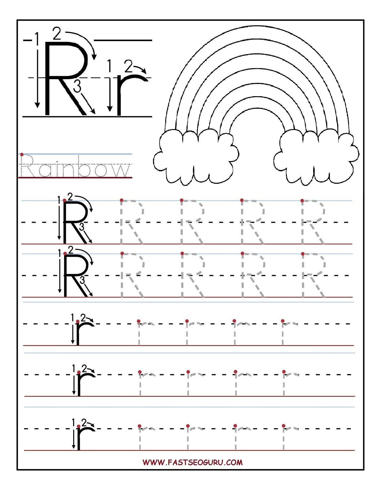 Letter P Tracing Worksheets Preschool