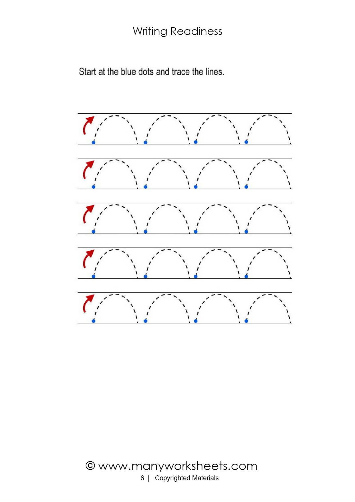 Tracing Diagonal Lines Worksheets For Preschool
