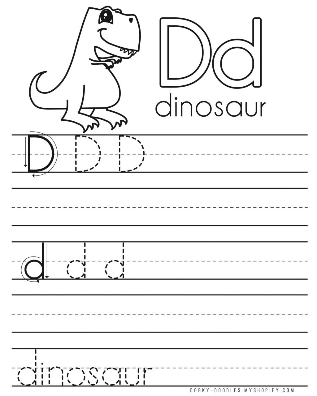 Letter D Tracing Worksheets Preschool