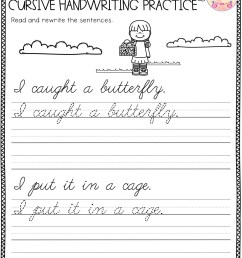 Free 3rd Grade Cursive Writing Worksheets   Printable Worksheets and  Activities for Teachers [ 2560 x 1978 Pixel ]