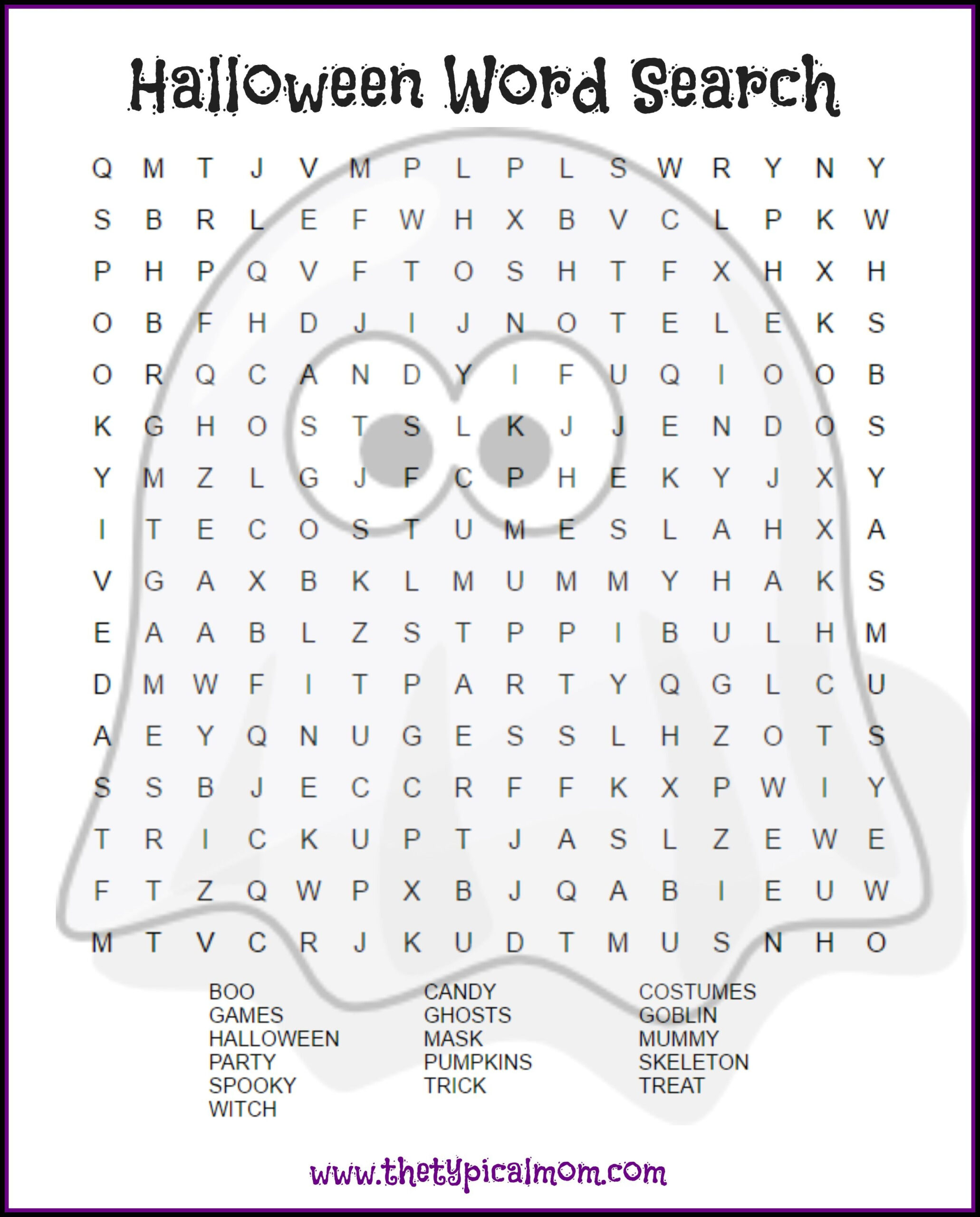 Free Printable Halloween Worksheets For 6th Grade