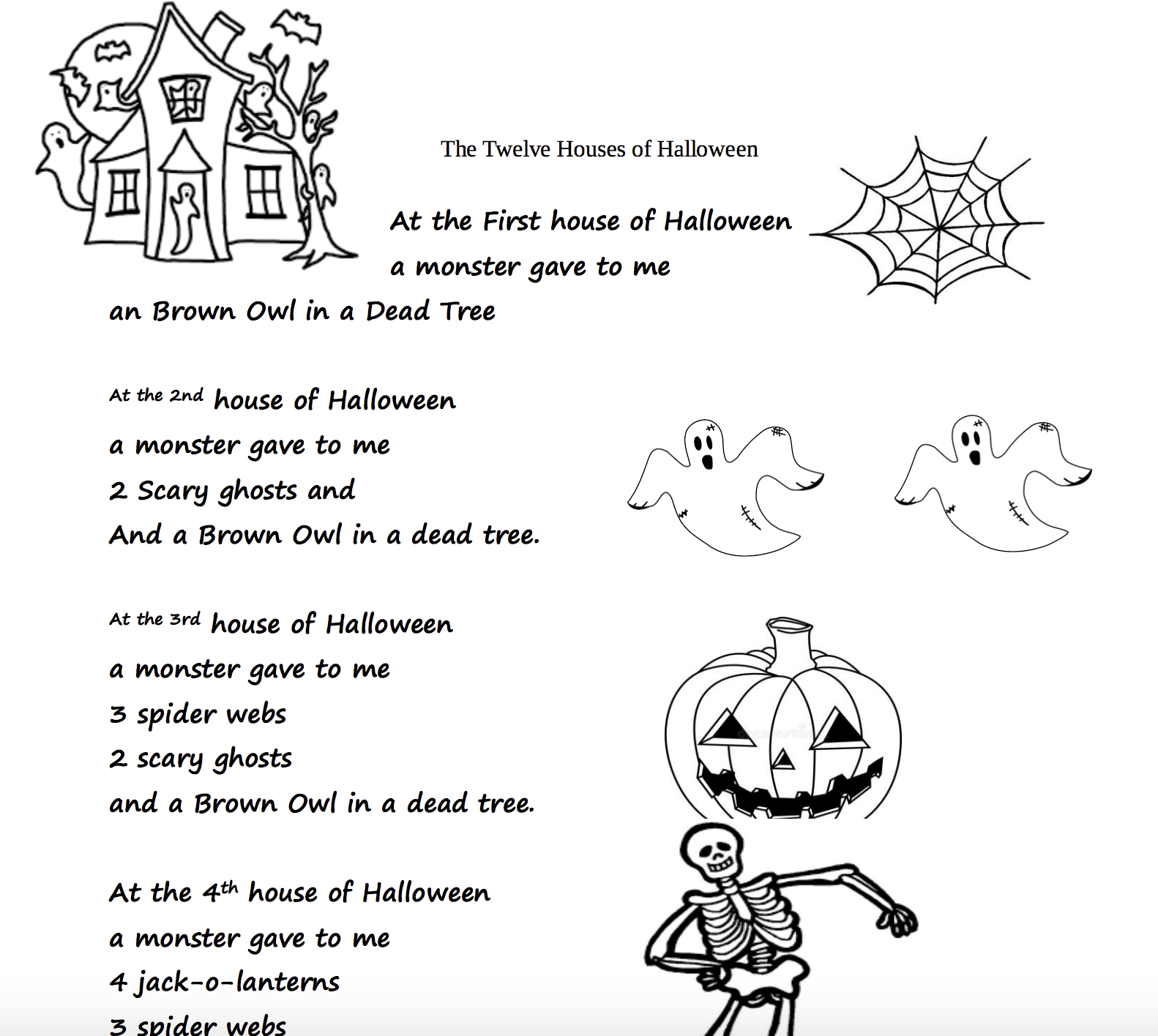 Free Halloween Worksheets For 4th Grade