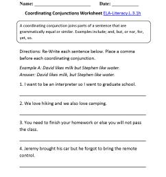 Subordinating Conjunction Worksheet Third Grade   Printable Worksheets and  Activities for Teachers [ 2200 x 1700 Pixel ]