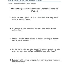 Decimal Division Word Problems Worksheet   Printable Worksheets and  Activities for Teachers [ 1800 x 1391 Pixel ]