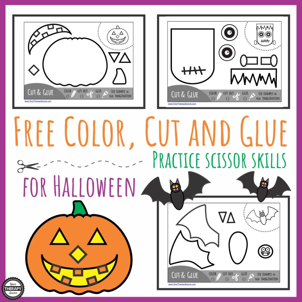 Halloween Cut Out Worksheets